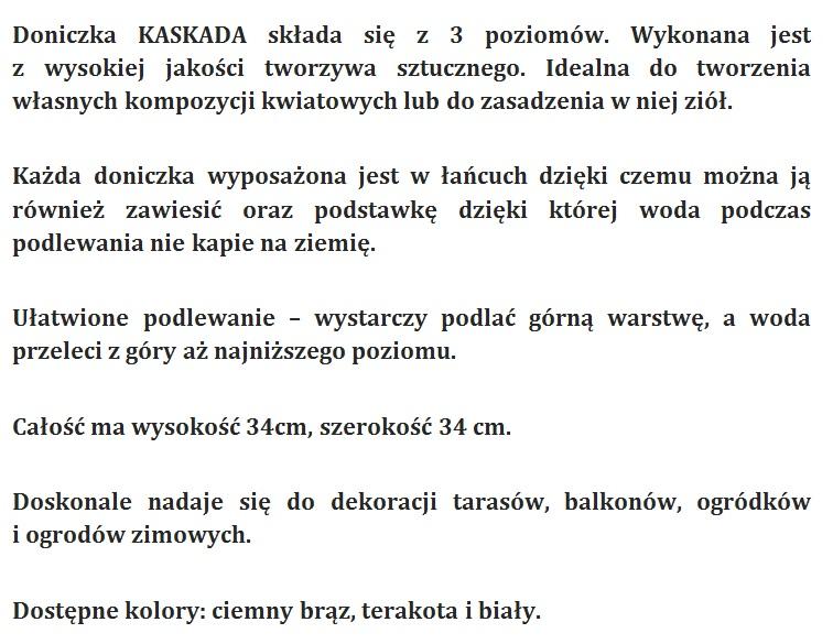 Doniczki Kaskadowe Mrgreen